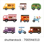 food trucks vector illustration ... | Shutterstock .eps vector #700546513
