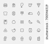 fast food line icons vector... | Shutterstock .eps vector #700546519