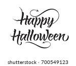 happy halloween lettering with...   Shutterstock .eps vector #700549123