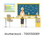 chemistry teacher   modern... | Shutterstock .eps vector #700550089