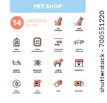 pet shop   set of vector icons  ... | Shutterstock .eps vector #700551220