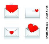 set vector e mail  envelop...