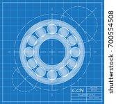 vector simple hand spinner icon.... | Shutterstock .eps vector #700554508