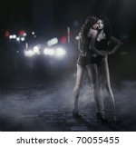 Woman Hugging Mannequin