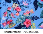 seamless pattern with flowers.... | Shutterstock . vector #700558006