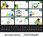 creative presentation templates ... | Shutterstock .eps vector #700558684
