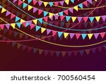 celebration background with... | Shutterstock . vector #700560454