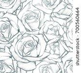 Stock vector rose seamless pattern vector rose 700560664