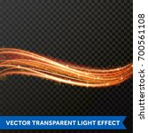 light line gold swirl effect.... | Shutterstock .eps vector #700561108