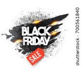 black friday lettering on... | Shutterstock .eps vector #700561840