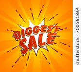 red biggest sale lettering on... | Shutterstock .eps vector #700561864