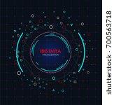 abstract big data concept.... | Shutterstock .eps vector #700563718