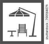 garden furniture icon sign...   Shutterstock .eps vector #700568074