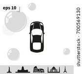 simple flat car top view icon. | Shutterstock .eps vector #700569130