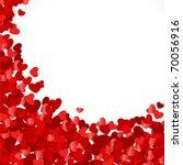 red hearts confetti valentine's ... | Shutterstock .eps vector #70056916