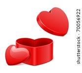 open heart gift present vector...   Shutterstock .eps vector #70056922