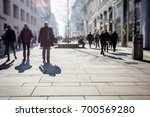 crowd of anonymous people... | Shutterstock . vector #700569280