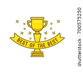 gold cup  in cartoon style.... | Shutterstock .eps vector #700575250