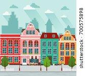 vector illustration of european ... | Shutterstock .eps vector #700575898