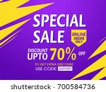 sale banner or sale poster...   Shutterstock .eps vector #700584736