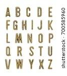 set of the vintage copper... | Shutterstock . vector #700585960
