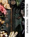 tasty appetizing italian... | Shutterstock . vector #700587934