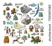 travel icons set  baikal ... | Shutterstock .eps vector #700589380