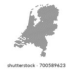 abstract map of netherlands... | Shutterstock .eps vector #700589623