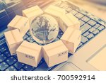 international freight or... | Shutterstock . vector #700592914
