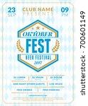 beer festival oktoberfest...   Shutterstock .eps vector #700601149