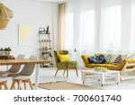 stylish living room with... | Shutterstock . vector #700601740