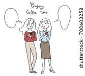 girls talk and woman...   Shutterstock .eps vector #700603258
