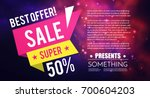 special offer. sale flyer... | Shutterstock .eps vector #700604203