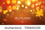 abstract autumn background with ... | Shutterstock .eps vector #700604230