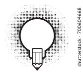 bulb with pencil over dot... | Shutterstock .eps vector #700604668