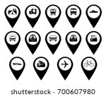 buttons with different signs... | Shutterstock .eps vector #700607980
