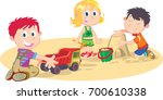 playing in the sand | Shutterstock .eps vector #700610338