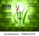 aloe vera serum and collagen... | Shutterstock .eps vector #700613233