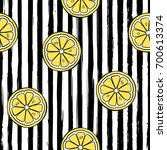 striped seamless pattern with... | Shutterstock .eps vector #700613374