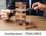 alternative risk concept  plan... | Shutterstock . vector #700613803