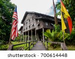 traditional wooden houses... | Shutterstock . vector #700614448