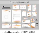 corporate identity  business... | Shutterstock .eps vector #700619068