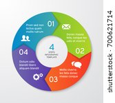 circle arrows for infographics. ... | Shutterstock .eps vector #700621714