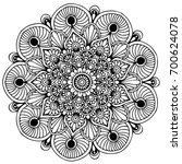 mandalas for coloring book.... | Shutterstock .eps vector #700624078