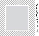 photo frame on isolated... | Shutterstock .eps vector #700625974