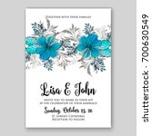 wedding invitation template...   Shutterstock .eps vector #700630549