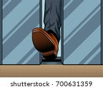 Foot Hold Closing Elevator Doo...