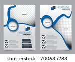 blue flyer vector design... | Shutterstock .eps vector #700635283