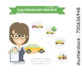 car insurance infographic on... | Shutterstock . vector #700636948