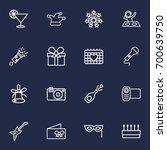 set of 16 cocktail outline... | Shutterstock .eps vector #700639750